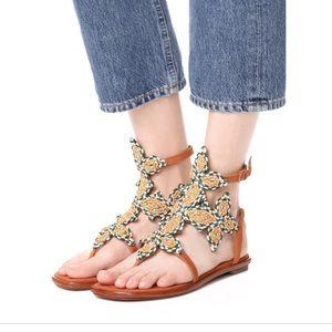 New Tory Burch Palisade Flat Sandals